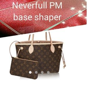 the sisterswood Bags - Engraved initials purse shaper for Louis Vuitton